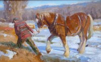 Crossing The Ice / Grant Redden, CA / 9.00x14.00 / $1500.00/ Sold