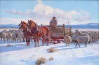 Ranch Flock / Grant Redden, CA / 24.00x36.00 / $11000.00/ Sold