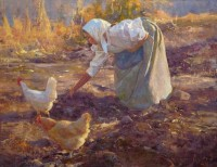 Gathering Potatoes / Grant Redden, CA / 16.00x20.00 / $3800.00/ Sold