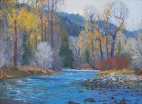 September Along the Big Wood / G. Russell Case / 18.00x24.00 / $7500.00