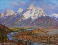 Teton Autumn Daybreak / Andrew Peters / 24.00x30.00 / $14000.00