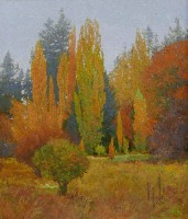 Lombardy Poplars of Medimont / George Carlson / 42.00x36.00 / $77000.00
