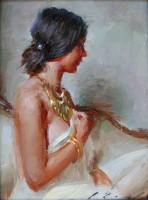 Profile In Gold / Suchitra Bhosle / 8.00x6.00 / $1800.00/ Sold