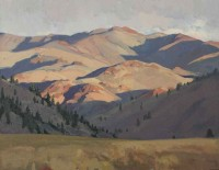 Bald Mountains, Sun Valley / G. Russell Case / 14.00x18.00 / $3900.00