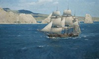 USS Dale off Cabo San Lucas, 1847 / Christopher Blossom / 22.00x36.00 / $36000.00/ Sold