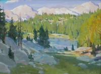 High in the Sawtooths / G. Russell Case / 12.00x16.00 / $3200.00