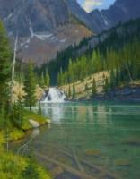 Cramer Lakes Falls / Ralph Oberg / 33.00x25.00 / $10500.00