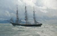 Benjamin F. Packard in the Strait of Juan de Fuca34, 1903 / Christopher Blossom / 22.00x34.00 / $35000.00/ Sold