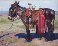 The Red Serape / John Moyers / 24.00x30.00 / $21000.00/ Sold