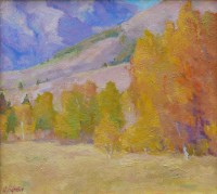 Autumn at the Foot of the Boulders / Amy Sidrane / 11.00x10.00 / $2000.00/ Sold
