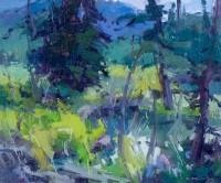 By The Beaver Ponds / Jill Carver / 10.00x12.00 / $1550.00