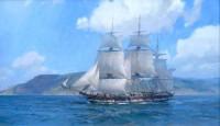 Ship Alert of Boston, Departing San Diego, September 1835 / Christopher Blossom / 18.00x30.00 / $26000.00/ Sold
