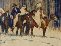 Snow Trackers / John Moyers / 30.00x40.00 / $34000.00/ Sold