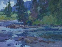 Time To Fish / Jill Carver / 11.00x14.00 / $1650.00