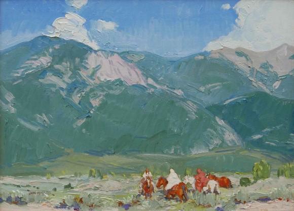 Below Taos Mountain / John Moyers / 18.00x24.00 / $9500.00