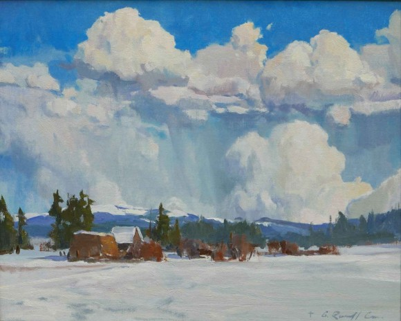 High Country Winter / G. Russell Case / 16.00x20.00 / $6000.00