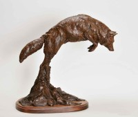 Mousing Coyote / Richard Loffler / 17.00x17.00 / $2900.00/ Sold