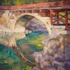 The Old Gateway To Glacier / Jill Carver / 24.00x24.00 / $5800.00