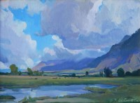 Spring Clouds / G. Russell Case / 9.00x12.00 / $2200.00/ Sold