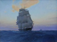 Clipper Ship Wild Pigeon at Twilight / Christopher Blossom / 26.00x34.00 / $38000.00/ Sold