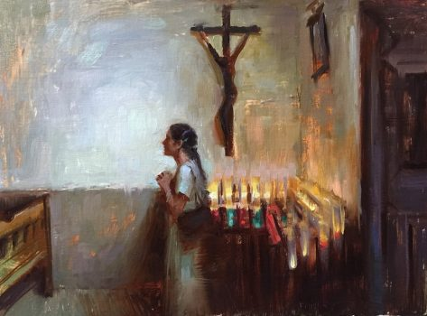 Prayer by Suchitra Bosele, 12 high X 16 wide $3,500.00