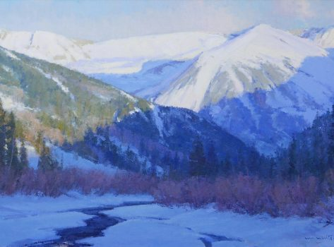 Winter Vespers by Skip Whitcomb 28 high X 48 wide $24,000.00