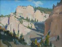 Sunlit Cliffs / G. Russell Case / 8.00x10.00 / $2000.00