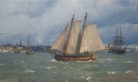 Snow Squalls, New York Harbor, 1760 / Christopher Blossom / 18.00x30.00 / $24000.00