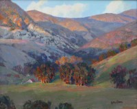 Last Rays Of Sunlight -Santa Ynez Mountains / Andrew Peters / 24.00x30.00 / $11000.00/ Sold