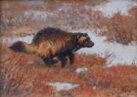 Tundra Runner / Ralph Oberg / 9.00x12.00 / $2200.00