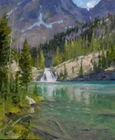 Cramer Lakes Falls - Study / Ralph Oberg / 12.00x10.00 / $2000.00/ Sold