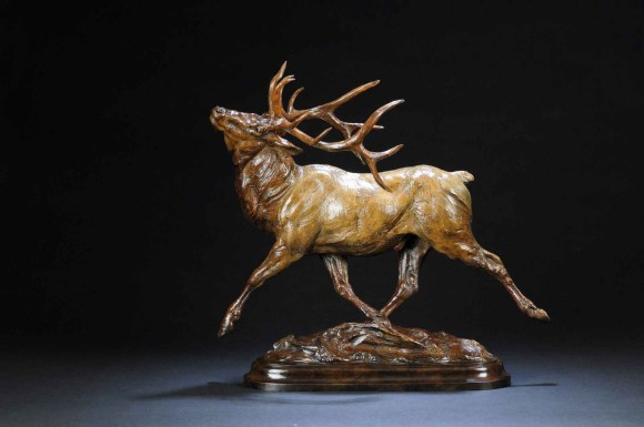 Wapiti / Tim Shinabarger / 19.00x19.00 / $5500.00/ Sold