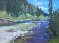Good Fishin', Good Paintin' / Jill Carver / 12.00x16.00 / $1850.00