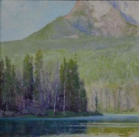 Shadows of Morning Light, Little Redfish Lake / Amy Sidrane / 32.00x32.00 / $11500.00