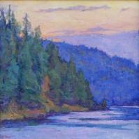 River Glow (Coeur d'Alene River) / Amy Sidrane / 14.00x14.00 / $2700.00/ Sold