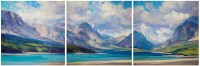 Glacier National Park - Triptych / Jill Carver / 14.00x42.00 / $10250.00