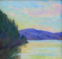 Lake Coeur d'Alene Sunset / Amy Sidrane / 12.00x12.00 / $2200.00/ Sold