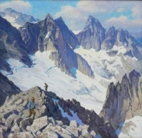 Exploring the Bugaboos / Ralph Oberg / 42.00x42.00 / $24000.00/ Sold