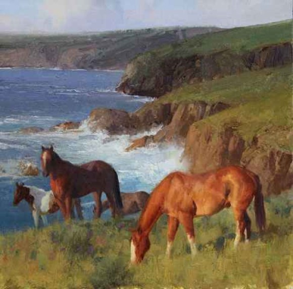 Seaside Grazing / Bill Anton / 16.00x16.00 / $12500.00/ Sold
