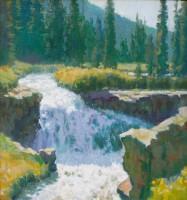 Twin Falls, Yankee Boy Basin / Wayne Wolfe / 18.00x16.00 / $6500.00