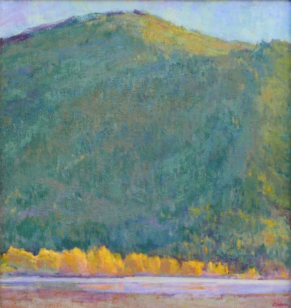 Leaves of Gold Along the Coeur d'Alene / Amy Sidrane / 19.00x18.00 / $3800.00