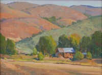 Hills and Barn / G. Russell Case / 9.00x12.00 / $2200.00