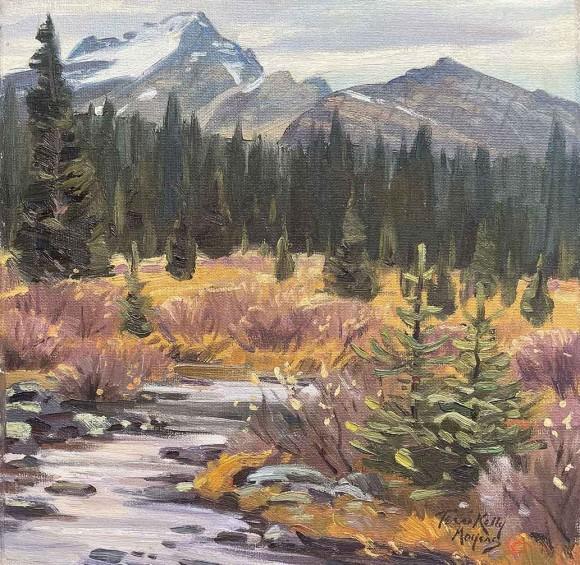 The Alpine Meadows (near Lake O'Hara) / Terri Kelly Moyers / 12.00x12.00 / $3500.00/ Sold