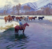 The Snowy Crossing / R.S. Riddick, CA / 40.00x42.00 / $45000.00/ Sold