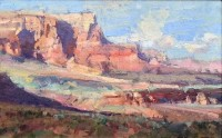 Sunset On Cliffs / Kathryn Stats / 8.00x13.00 / $2000.00/ Sold