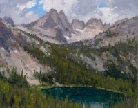 Elk Peak and Lower Cramer Lake - Study / Ralph Oberg / 11.00x14.00 / $2000.00