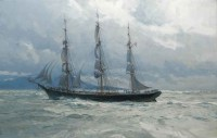 Benjamin F. Packard in the Strait of Juan de Fuca34, 1903 / Christopher Blossom / 22.00x34.00 / $35000.00/ Sold
