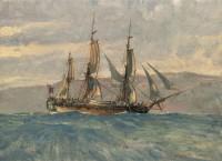 Vancouver's 'Discovery' in the Pacific Northwest, 1792 / Christopher Blossom / 9.00x12.00 / $4000.00