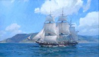 Ship Alert of Boston, Departing San Diego, September 1835 / Christopher Blossom / 18.00x30.00 / $26000.00/ Sold