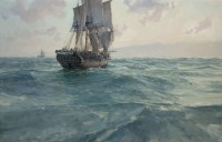 Discovery and Chatham Approaching Cape Flattery, April 29, 1792 / Christopher Blossom / 22.00x34.00 / $34000.00/ Sold